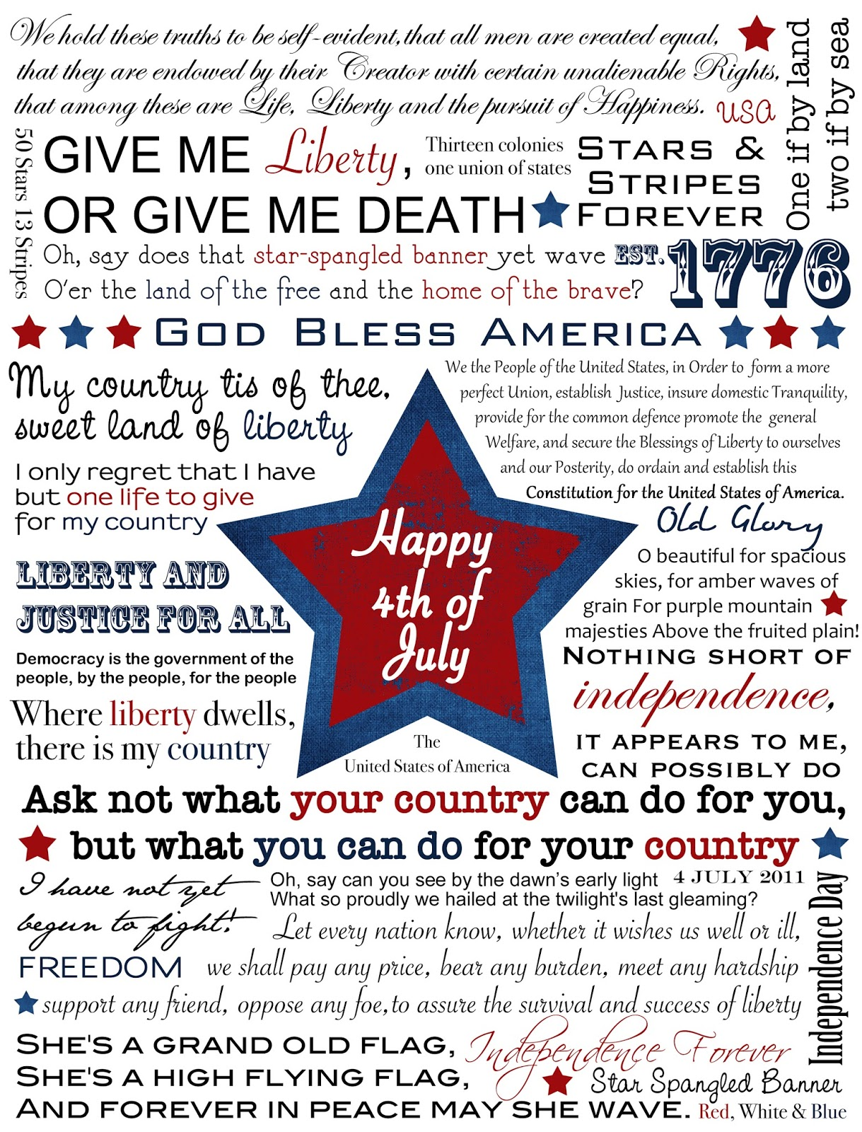 Living The Miracle Happy Birthday America