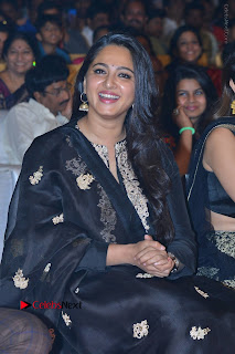 Actress Anushka Anushka Shetty Stills in Black Salwar Kameez at Om Namo Venkatesaya Audio Launch Event  0037.JPG