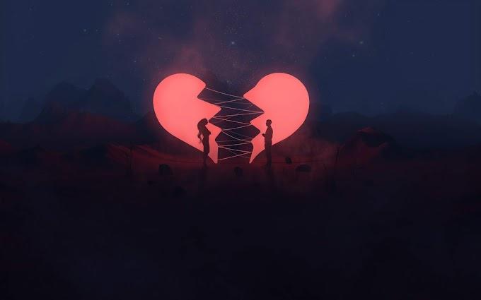 Arte Neon Coração Quebrado