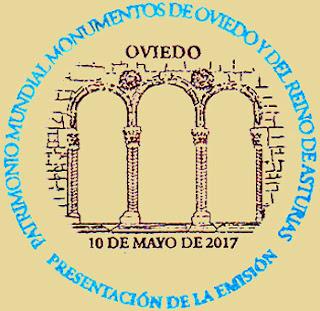 Matasellos Presentación Hoja bloque monumentos de Oviedo