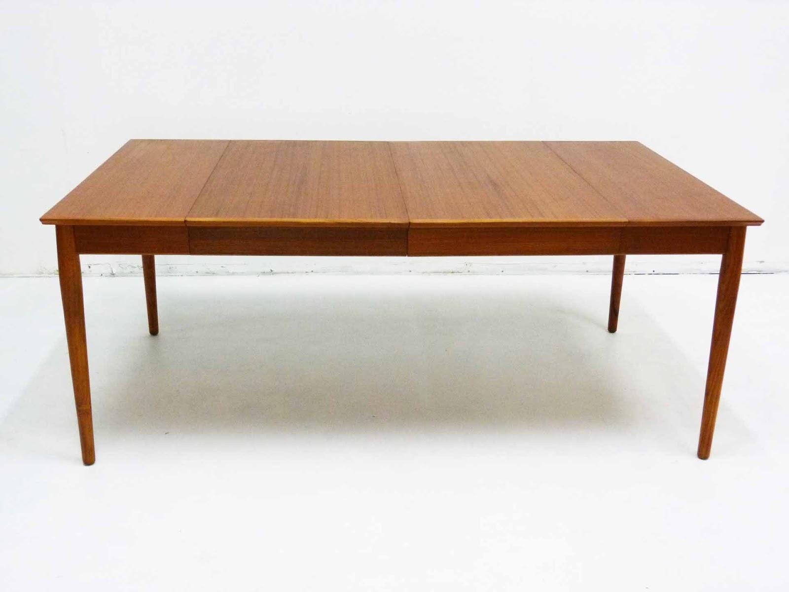 Arne Vodder For Sibast Drop Leaf Teak Extension Oval Dining Table No Leaf