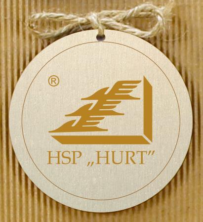 zawieszki ze sklejki z logo