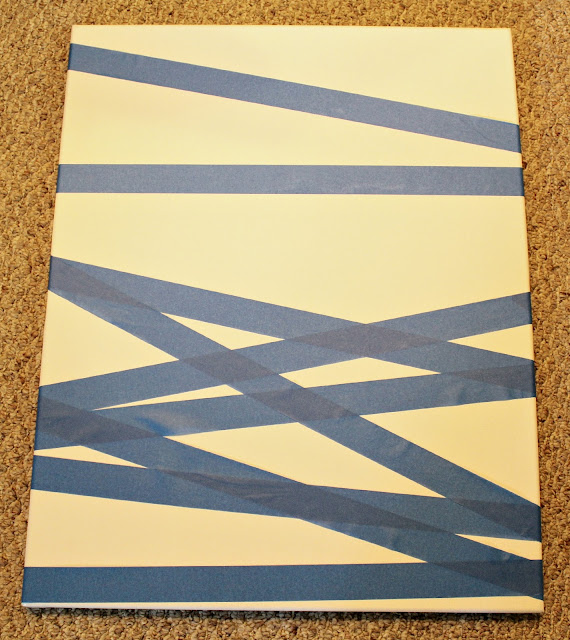 Canvas Painting With Tape: Ten June: {DIY} Painters Tape Abstract Art