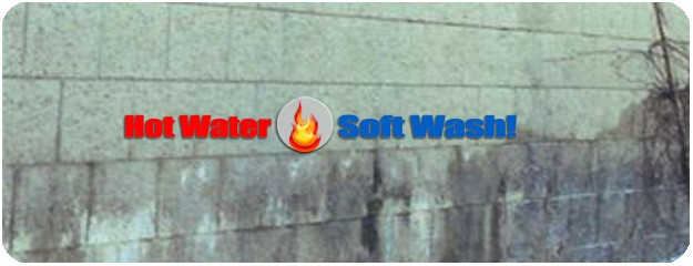 Pressure Washing Cement Walls
