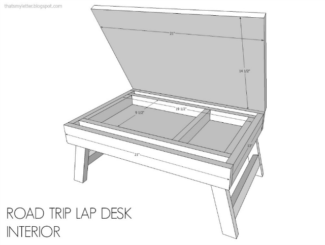 diy road trip lap desk free plans
