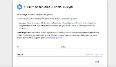 G Suite hesabınıza kullanıcı ekleyin