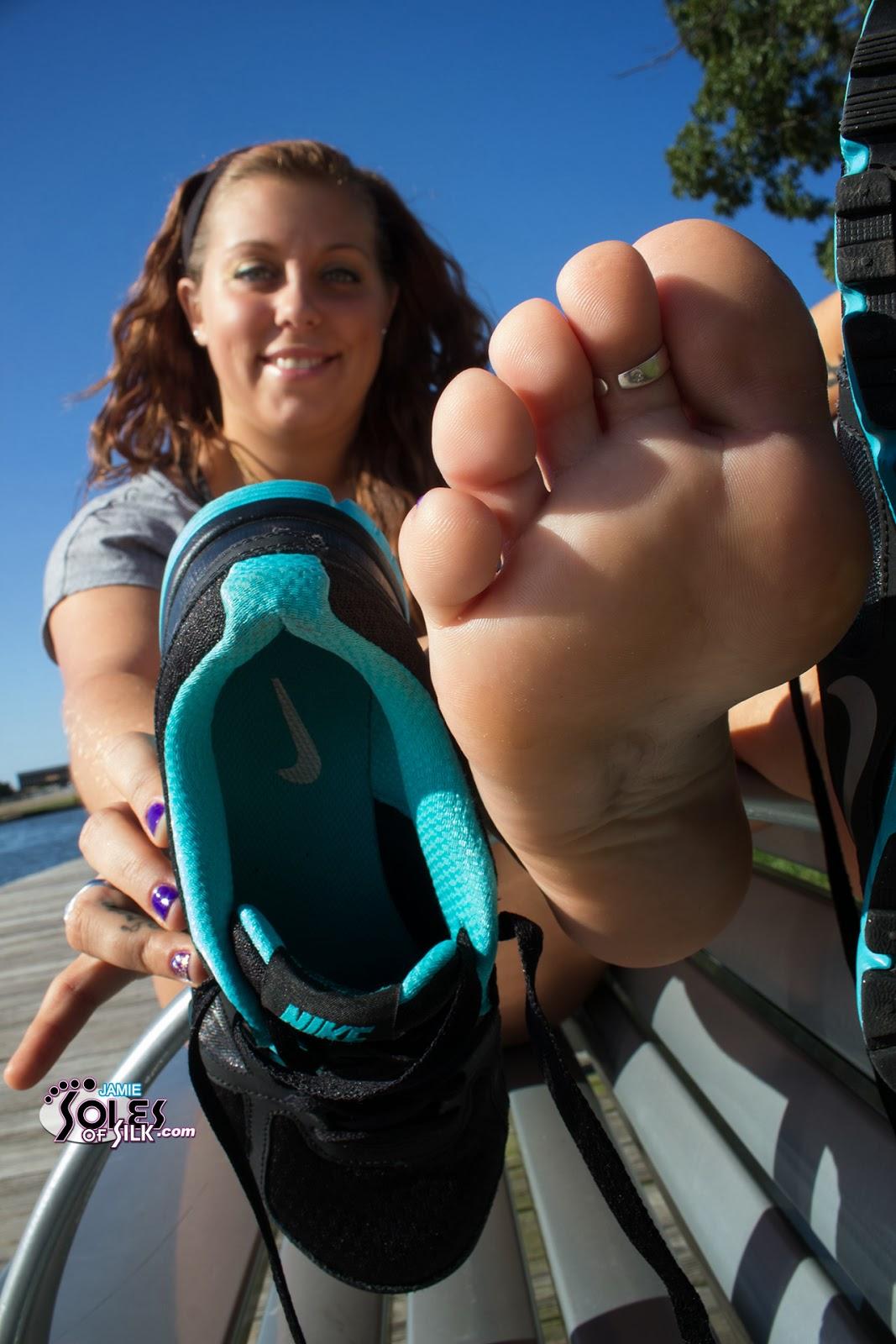image Sweaty socks shoes feet