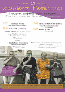 Cartel de las actividades feministas en fiestas