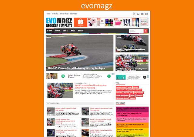 Evo Magz V5.0 Responsive Blogger Templates
