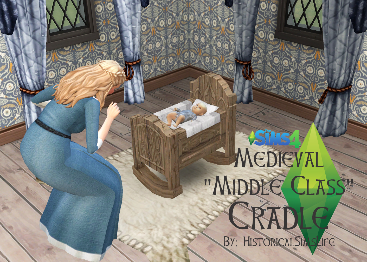 ts4 medieval middle class crib history lovers sims blog