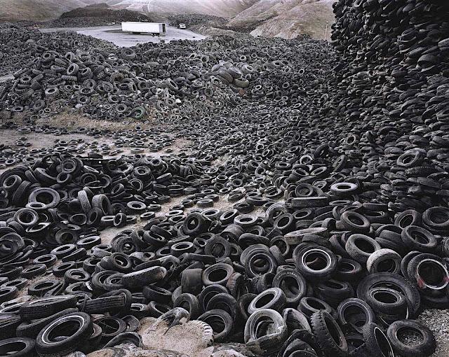 a photograph by Edward Burtynsky, car tires