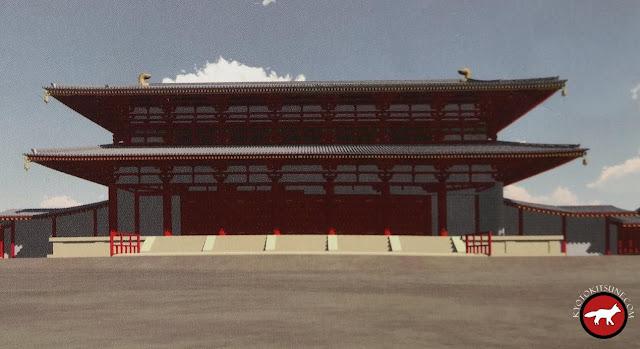 Reconstitution en 3D de la porte Rashômon à Kyoto