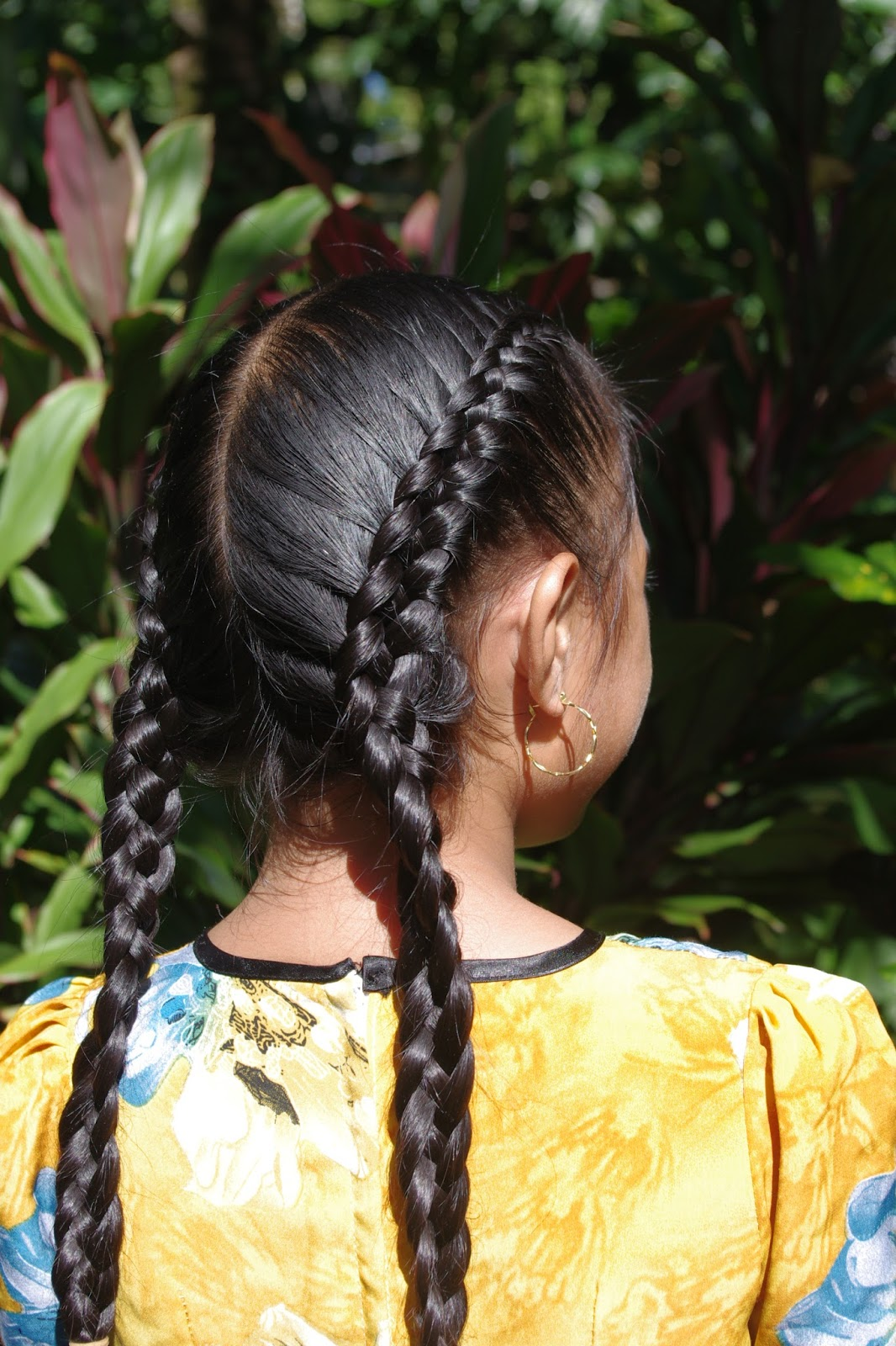 Micronesian Girl Double 4 Strand French Braids New