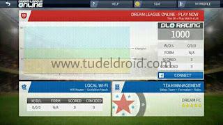 Bermain online atau offline wi-fi Dream Soccer League