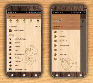 BBM Doraemon Wood Versi 300.3.9.145 Apk