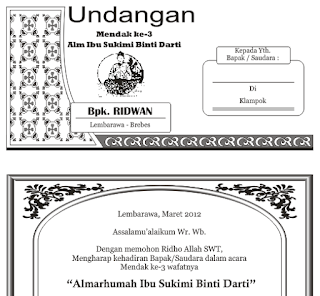 download undangan tahlil cdr gratis