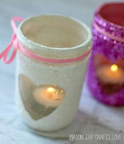 Glitter Mason Jars. Foto: masonjarcraftslove.com