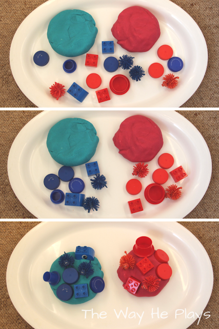 Exploring colour with Playdough in 3 ways.
