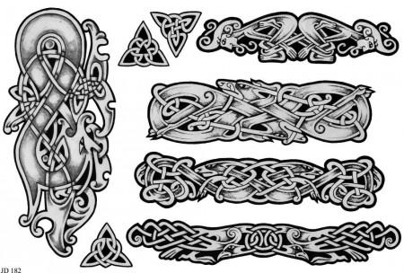 diseños de tatuajes de perros celtas