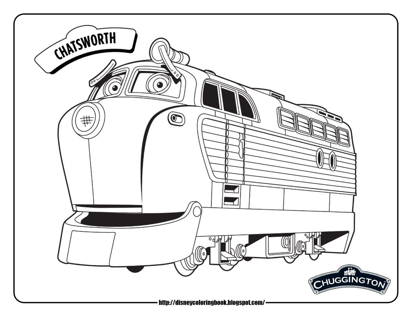 Chuggington 1 Free Disney Coloring