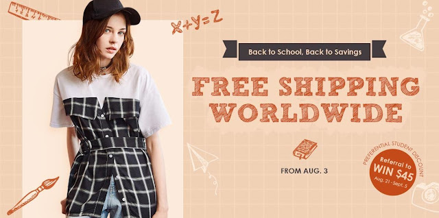 zaful back to school promotion