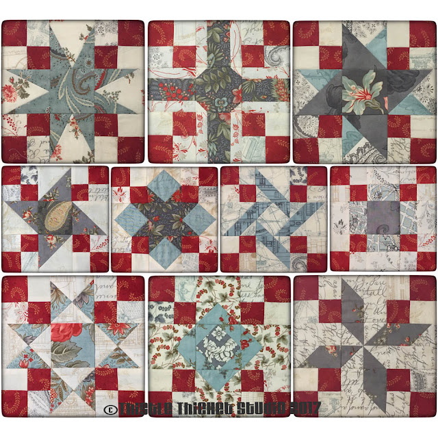 Thistle Thicket Studio, 9-patch quilt block, quilts, quilting, 9-patch