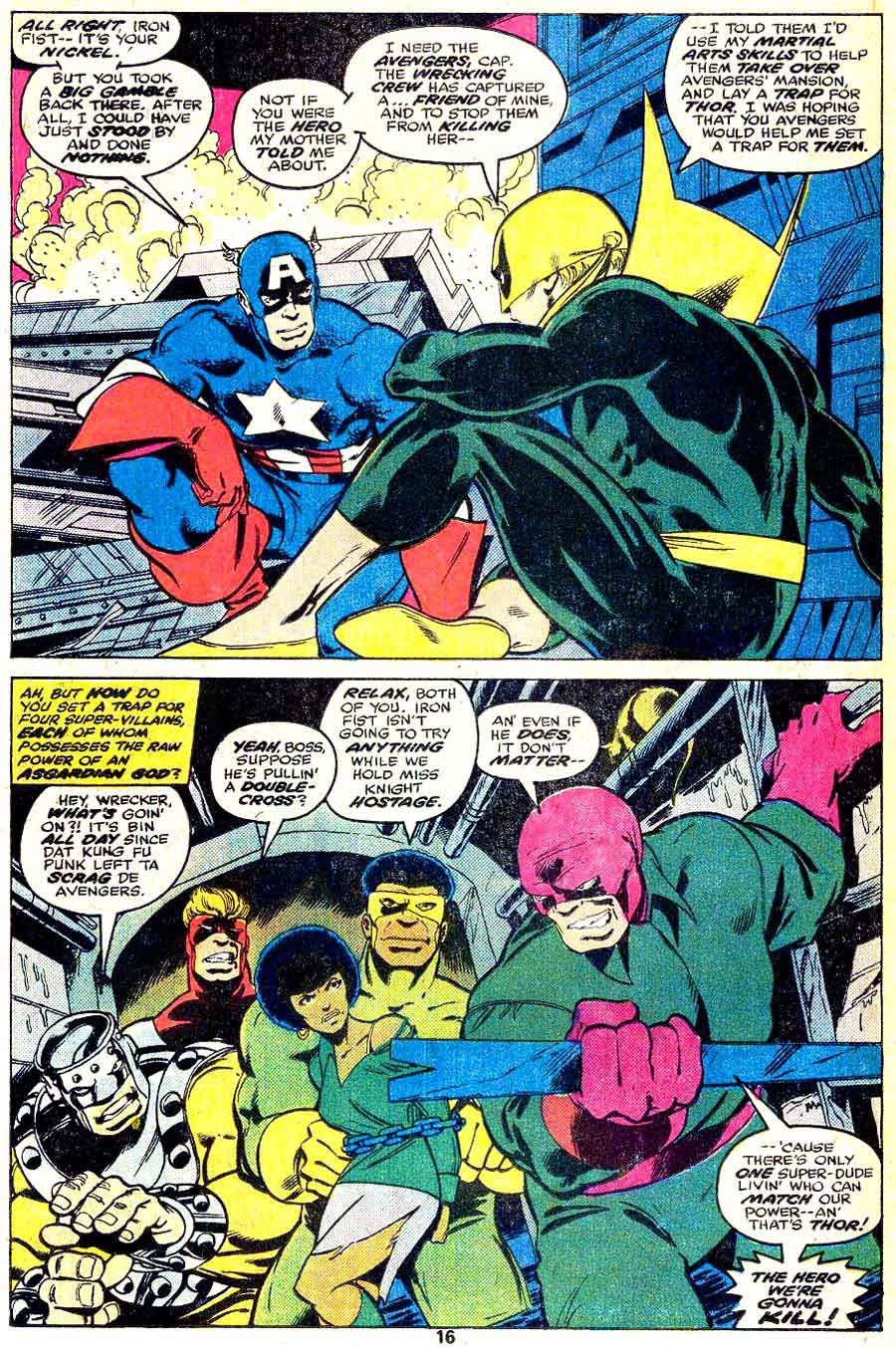 Iron Fist v1 #12 marvel bronze age comic book page art by John Byrne