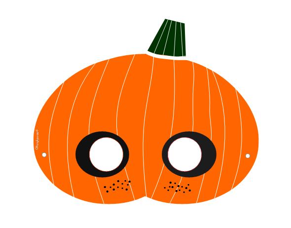 Masque Halloween à imprimer télécharger Gratuit Free citrouille