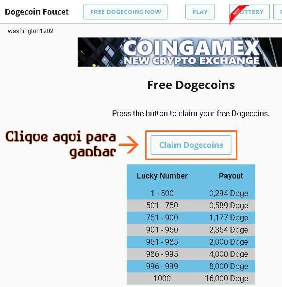 FreeDogecoin win: (PAROU DE PAGAR) | Ganhe Bitcoin Hoje