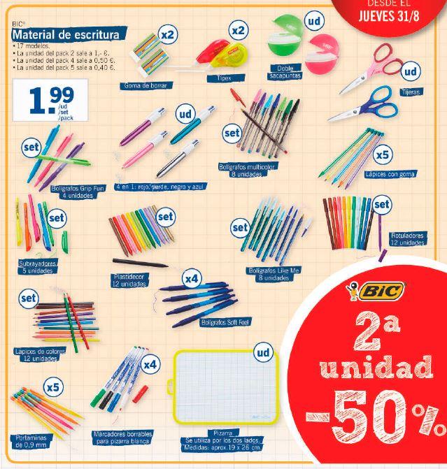 a93a20f84 ... rotuladores, marcadores, tijeras, corrector, gomas de borrar… Todo lo  que se pueda llevar en un estuche escolar o estar en tu escritorio sin  falta.