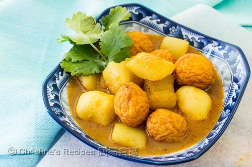 Curry Fish Balls with Radish03