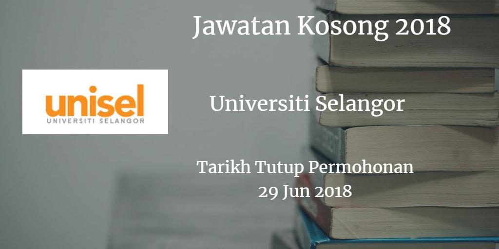 Jawatan Kosong UNISEL 29 Jun 2018