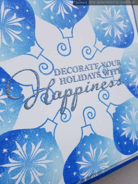 Haro Arts, Wreath builder, Christmas, Handmade card