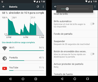 gestion energia android