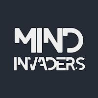 Texto Mind Invaders sobre fondo negro