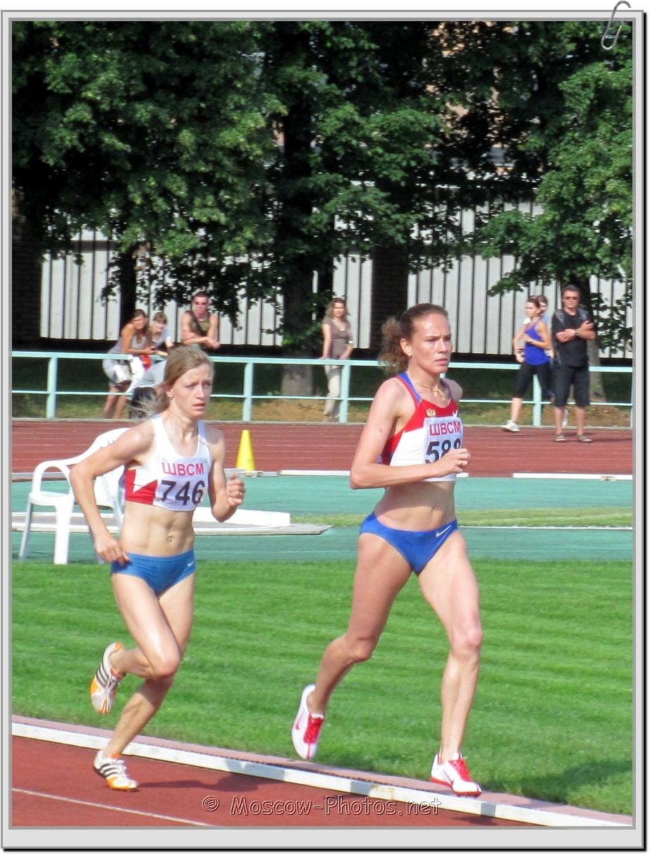 Long-distance runners at Moscow Athletics Open 2011