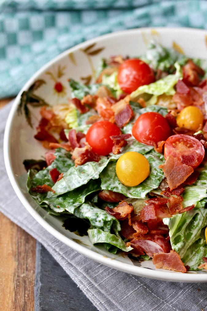 Bacon, Lettuce, and Tomato Salad