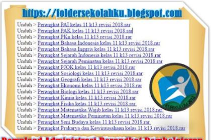 Download Administrasi Perangkat Pembelajaran SMA Kelas XI (11) Kurikulum 2013 Revisi 2018 Lengkap Semua Mapel