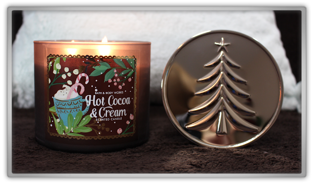 Bath & Body Works Delicious Cozy Winter Haul and Review 3 wick hot cocoa & cream christmas beauty blog blogger cozy favorites