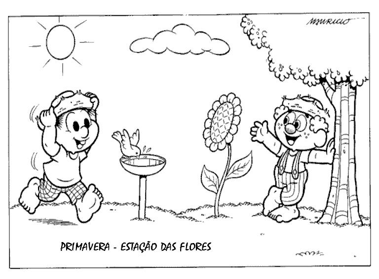 primavera turma da mÔnica atividades e desenhos para colorir i