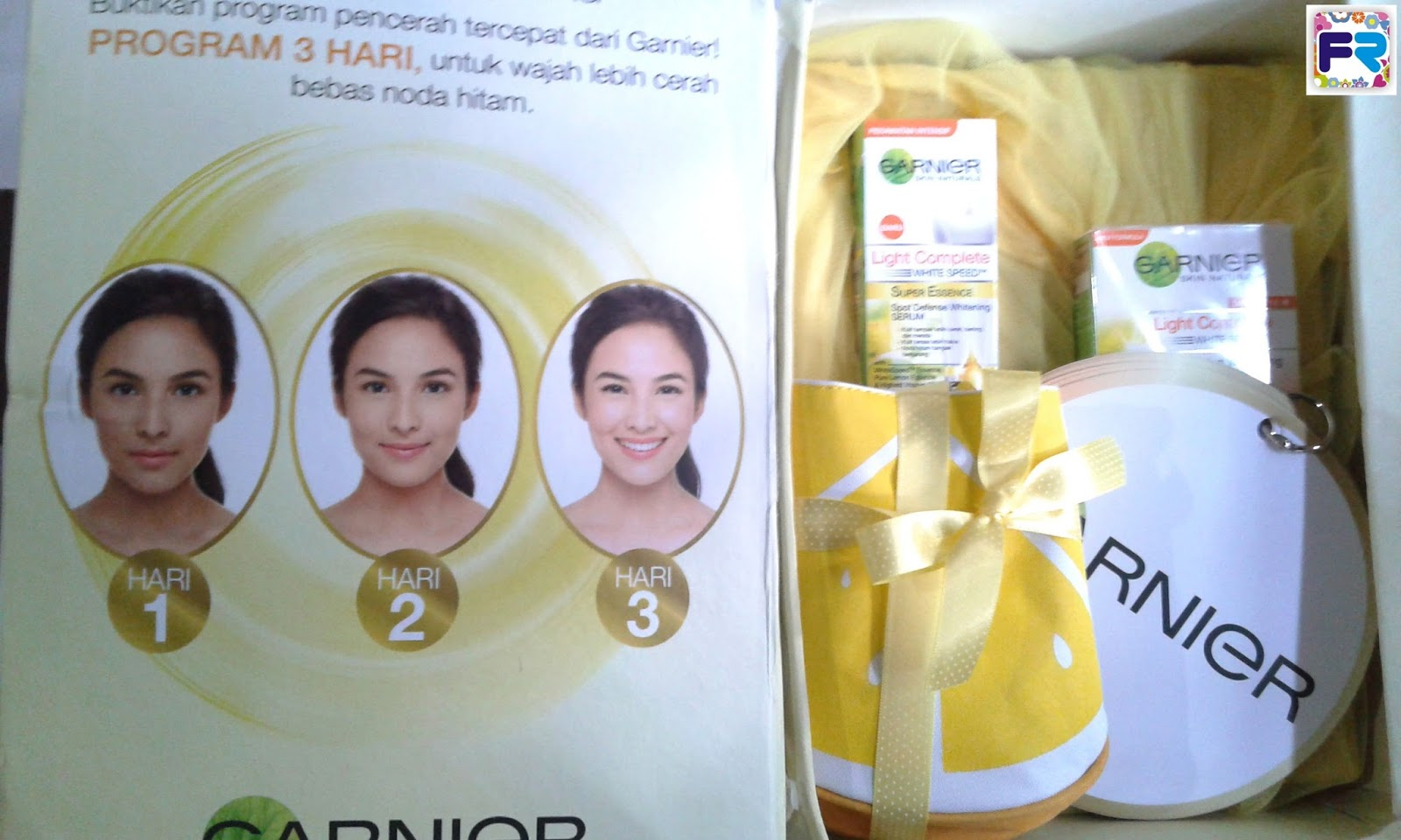 Program 3 Hari Pakai Produk Baru Garnier Light Complete Series Paket White Speed