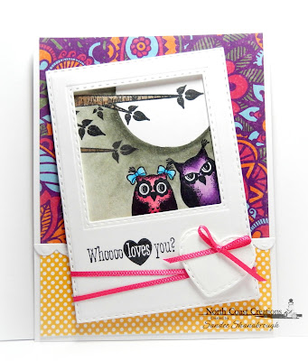North Coast Creations Stamp Set: Who Loves You?, Our Daily Bread Designs Custom Dies: Double Stitched Squares, Double Stitched Rectangles, Mini Stitched Hearts, Bitty Borders, Circles, Our Daily Bread Designs Paper Collections:Beautiful Boho, Birthday Brights
