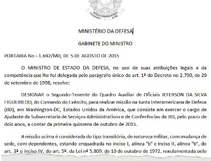 ideli tenente nomeado OEA exoneração