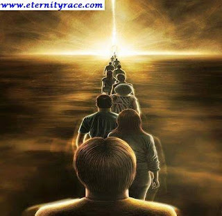 the queue of great multitude of dead soul awaiting judgment,