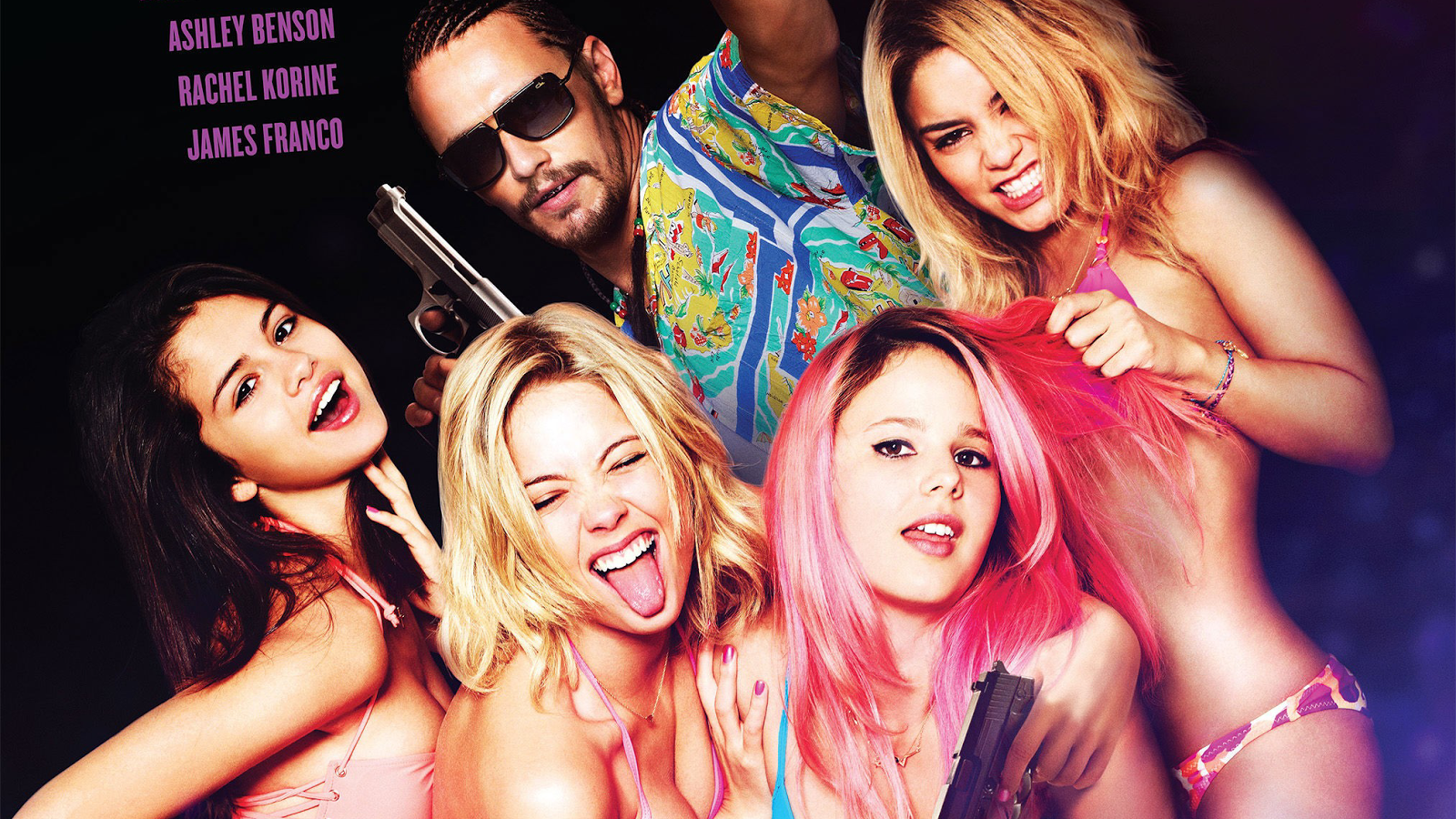 eclectic pop spring breakers follows four degenerate college girls as they head to spring break after robbing a restaurant filled customers so they can have the