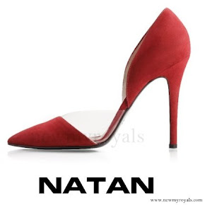 Queen Maxima wore Natan shoes in red