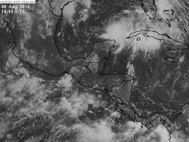 Lluvias en el oriente, centro y sur de Yucatán