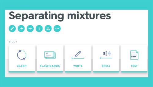 Separating mixtures study unit