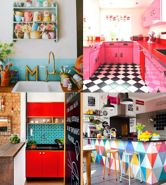Colourful quirky bright kitchen ideas