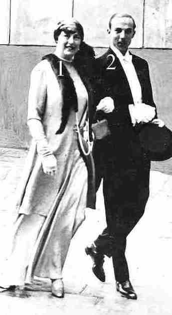 Mariage du comte de Paris en 1931: le marié et sa mère.